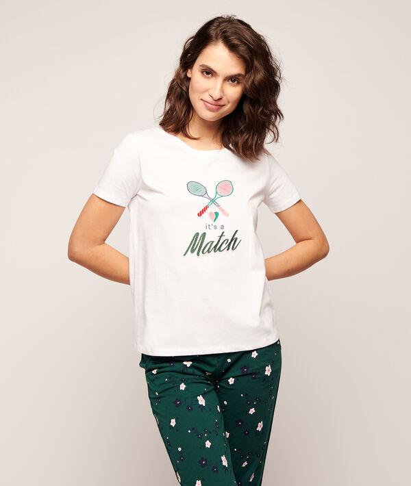 """T-Shirt mit Print """"It's a match"""" und Tennisschläger;${refinementColor}"""