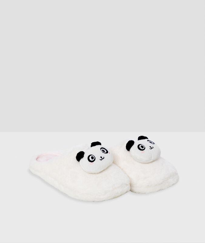 Panda-pantoffeln ecru.