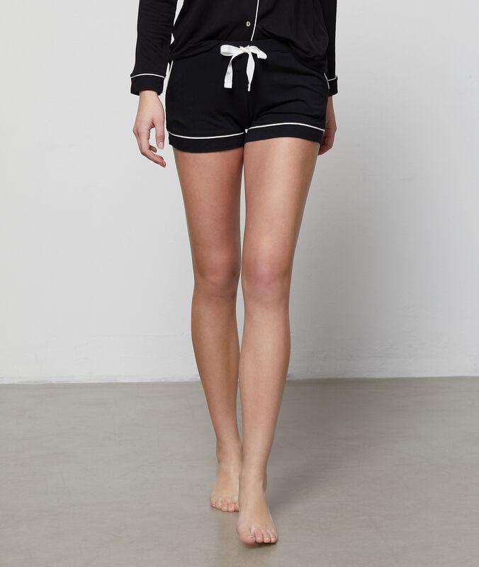 Zweifarbige shorts schwarz.