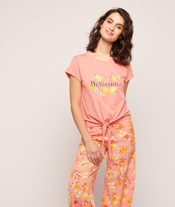 """T-Shirt zum Binden mit Print """"Bellissima"""";${refinementColor}"""