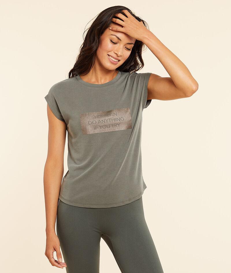 """T-Shirt mit kurzen Ärmeln """"you can do anything ..."""";${refinementColor}"""