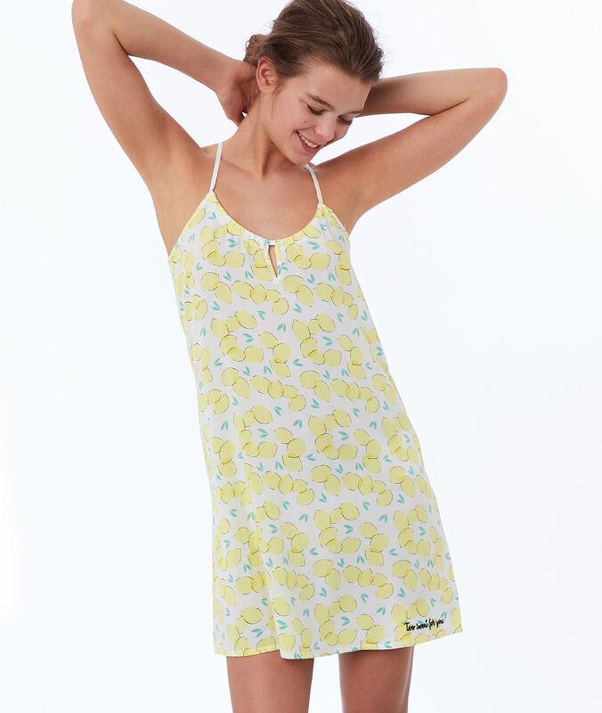 Nachthemd mit zitronen-print gelb.