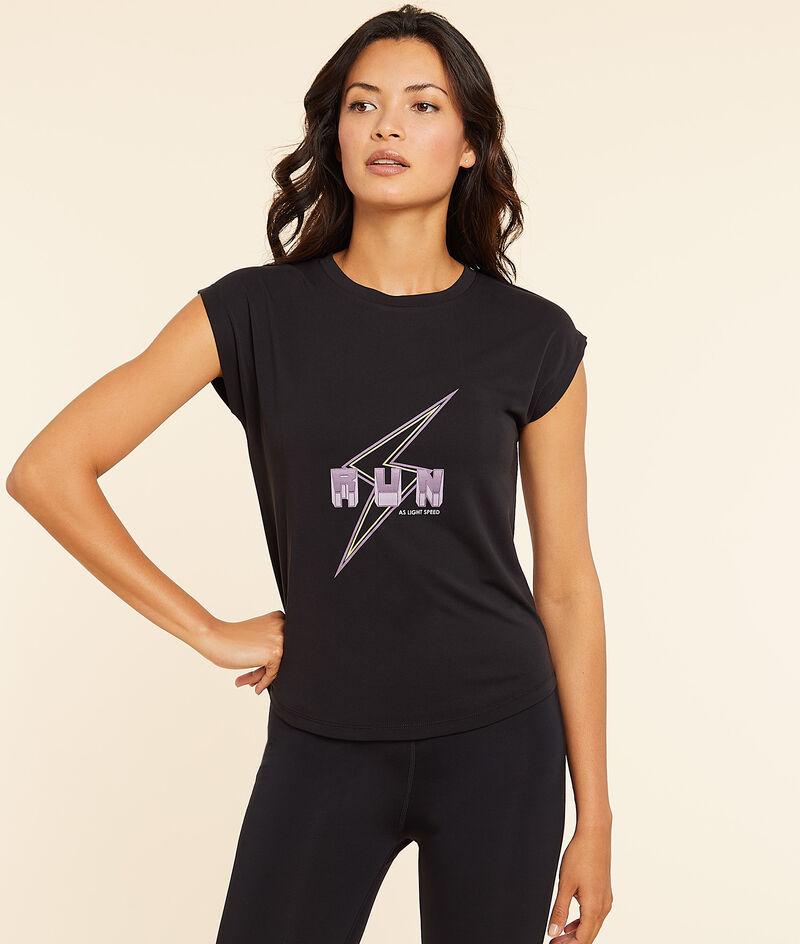"""T-Shirt mit kurzen Ärmeln """"run"""";${refinementColor}"""
