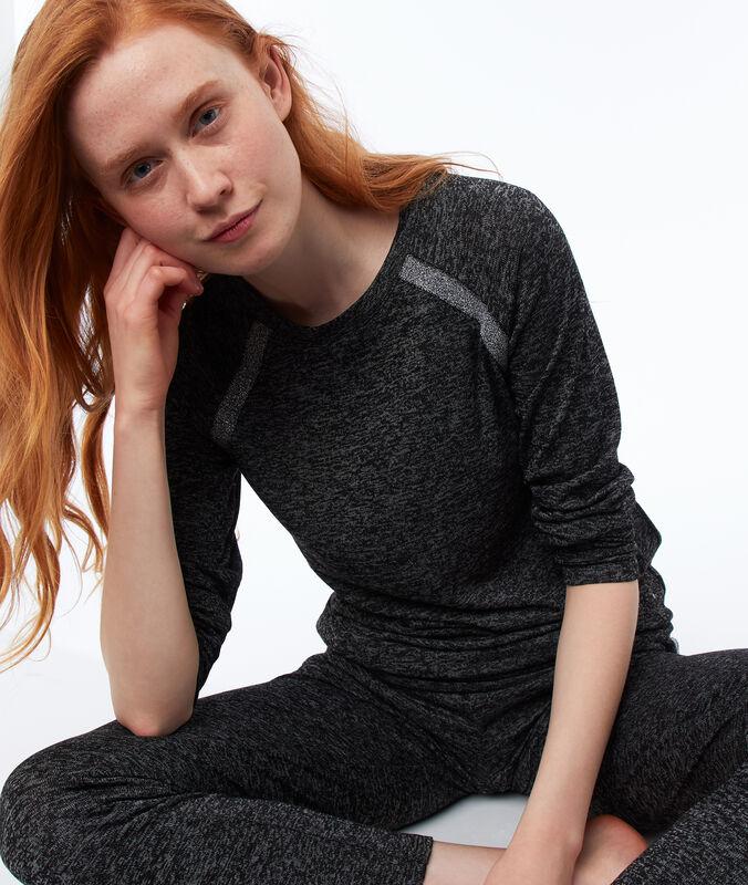 Homewear-sweatshirt meliert grau.