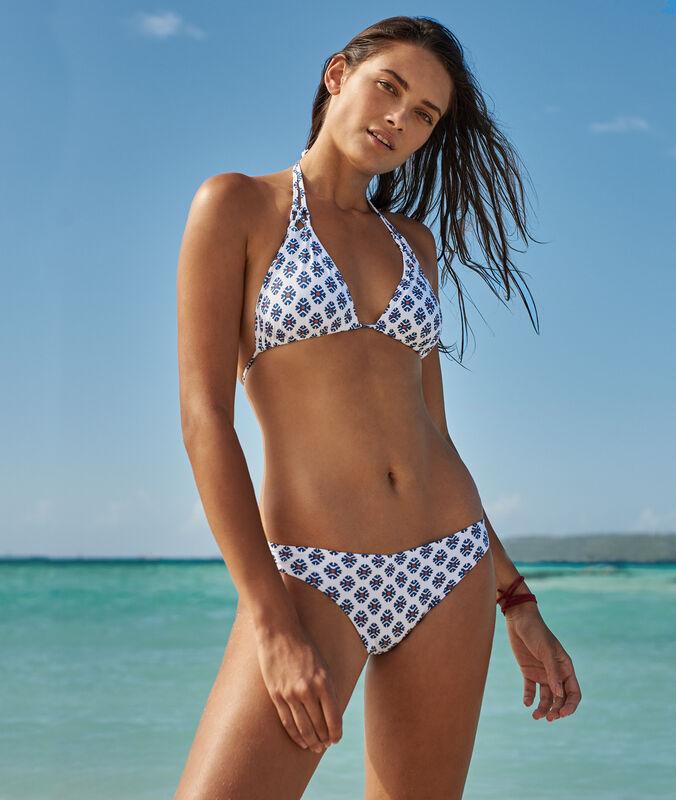 Einfaches bikiniunterteil print auf weissem hintergrund.