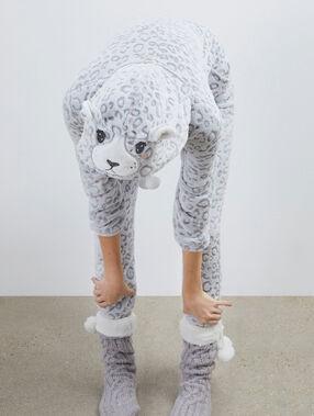 Panther pyjama onesie gris.