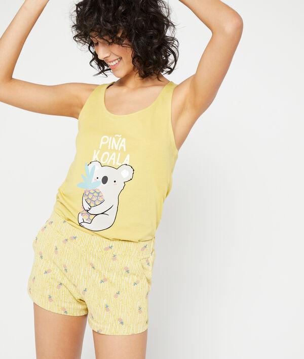Shorts mit Ananas-Print;${refinementColor}