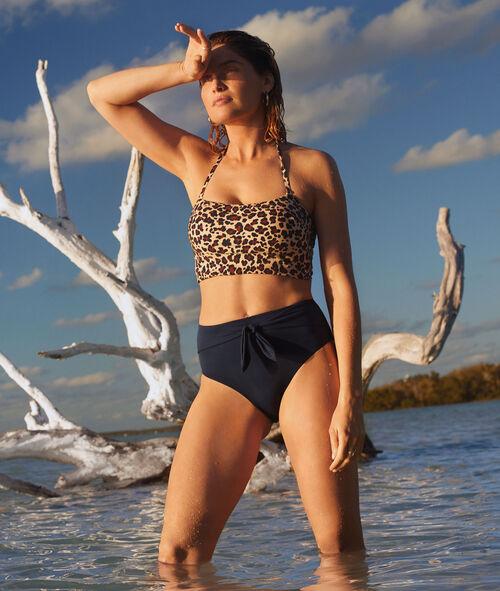 Bikinioberteil in Bustier-Form, am Rücken gebunden