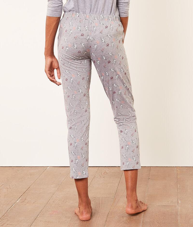 Pyjamahose mit Print;${refinementColor}