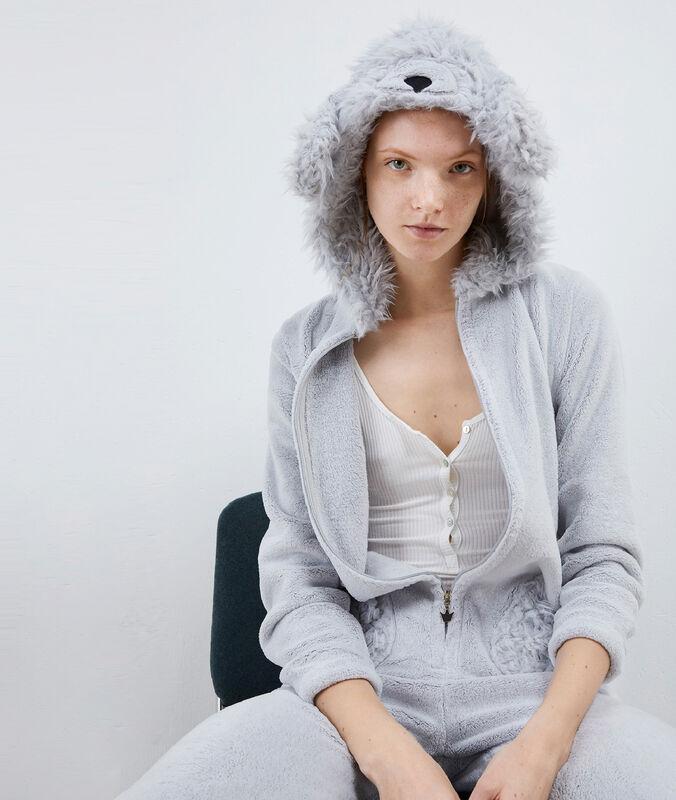 Hund pyjama onesie - orelie gris.