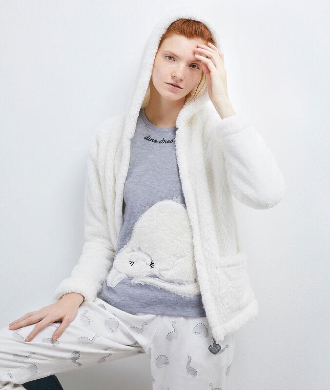 3-teiliger pyjama, weiche jacke white.