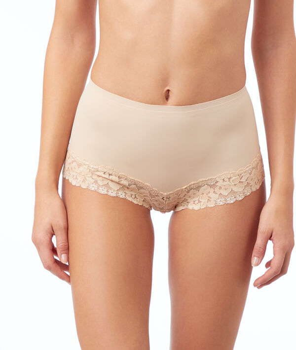 Panty aus Spitze mit hoher Taille – Stufe 1: figurformend;${refinementColor}