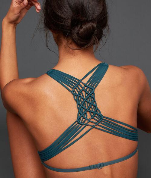 Dreiecksform aus Spitze und Tüll, angearbeiteter Rücken