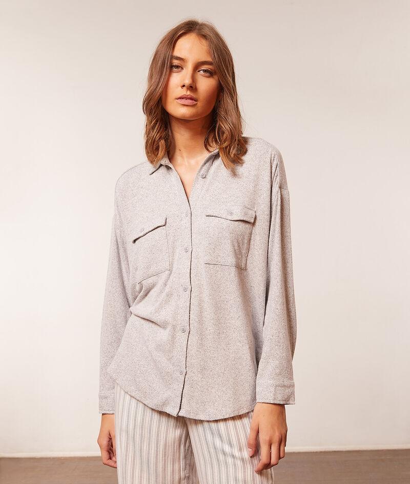 Chemise pyjama manches longues;${refinementColor}