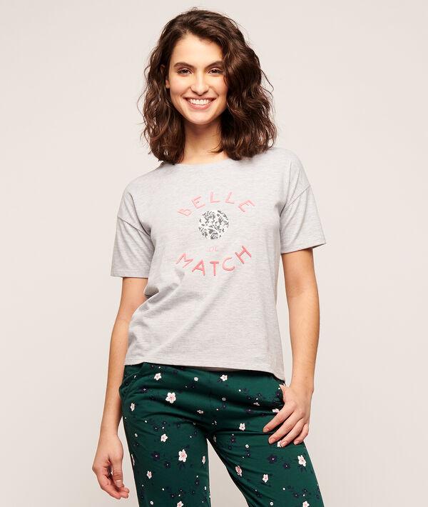 """T-Shirt mit Print """"Belle de match"""";${refinementColor}"""