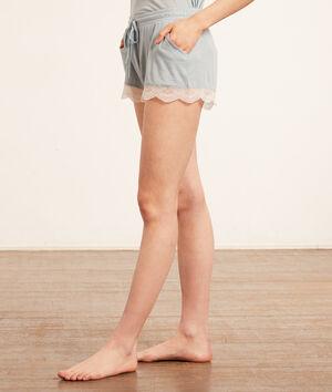 Shorts mit Spitzendetail;${refinementColor}