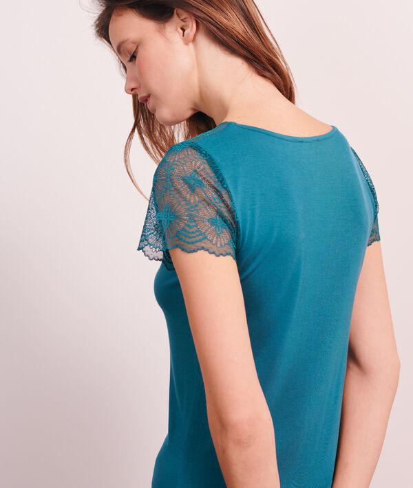 Nachthemd mit Details aus Spitze;${refinementColor}