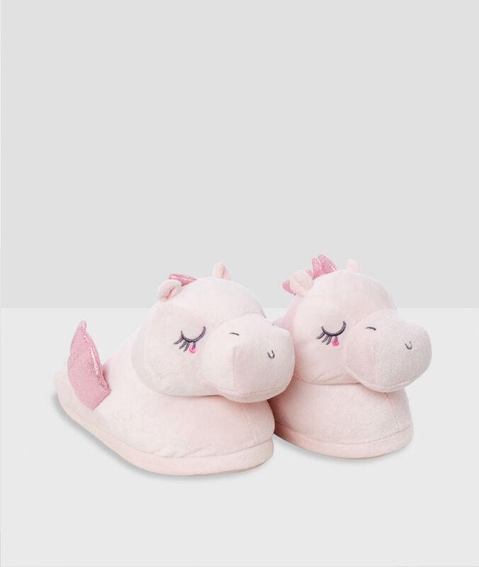 Pantoffeln drache 3d rosa.