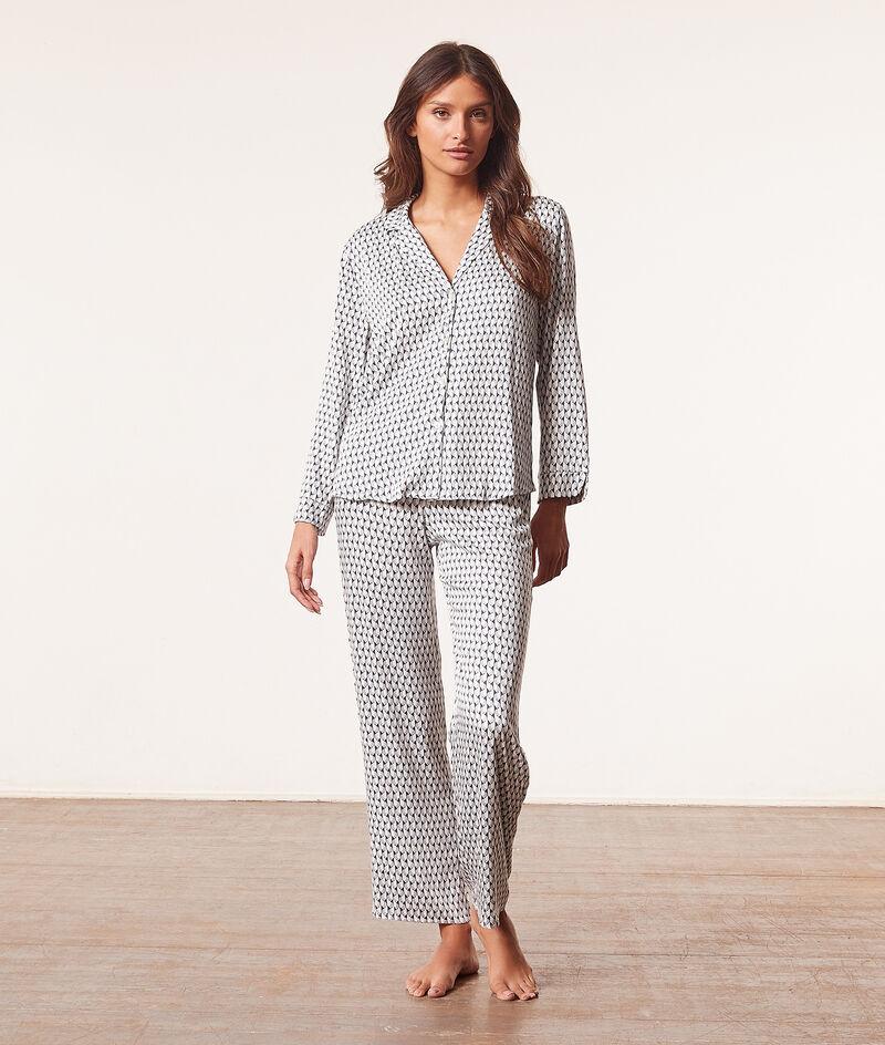 Pyjamahemd mit Print;${refinementColor}