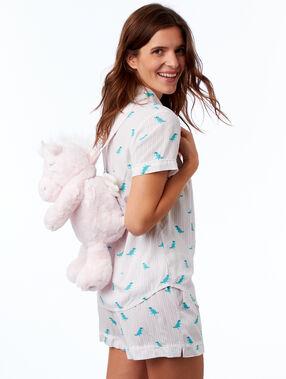 Dinosaurier-rucksack für den pyjama ecru.