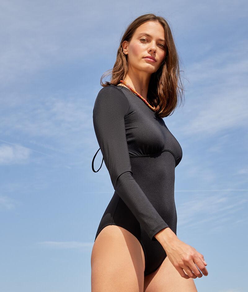 1-teiliger langärmeliger Surfanzug mit Reißverschluss auf der Rückseite;${refinementColor}