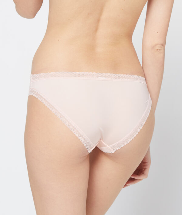 Panty aus Materialmix