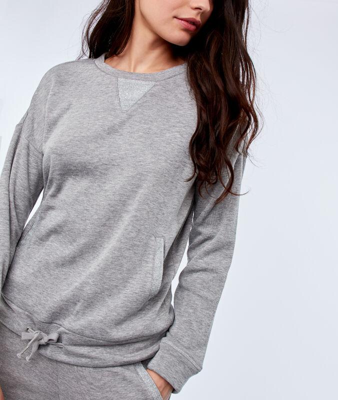 Sweatshirt mit taschen hellgrau.