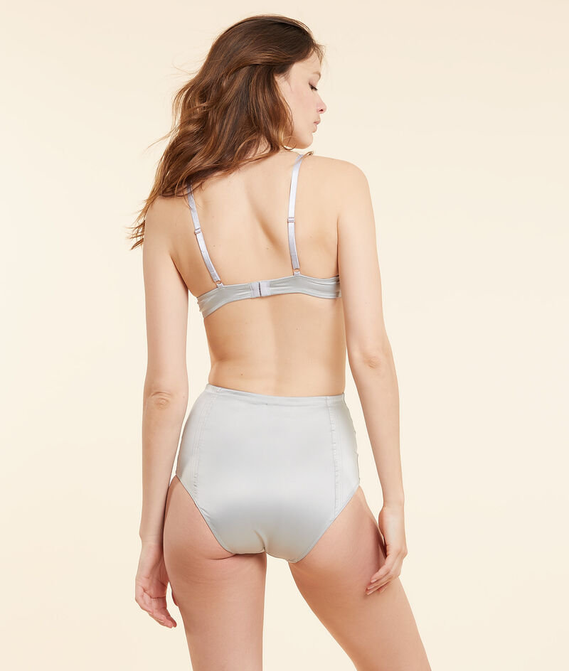 Seidig schimmerndes Panty mit hoher Taille;${refinementColor}