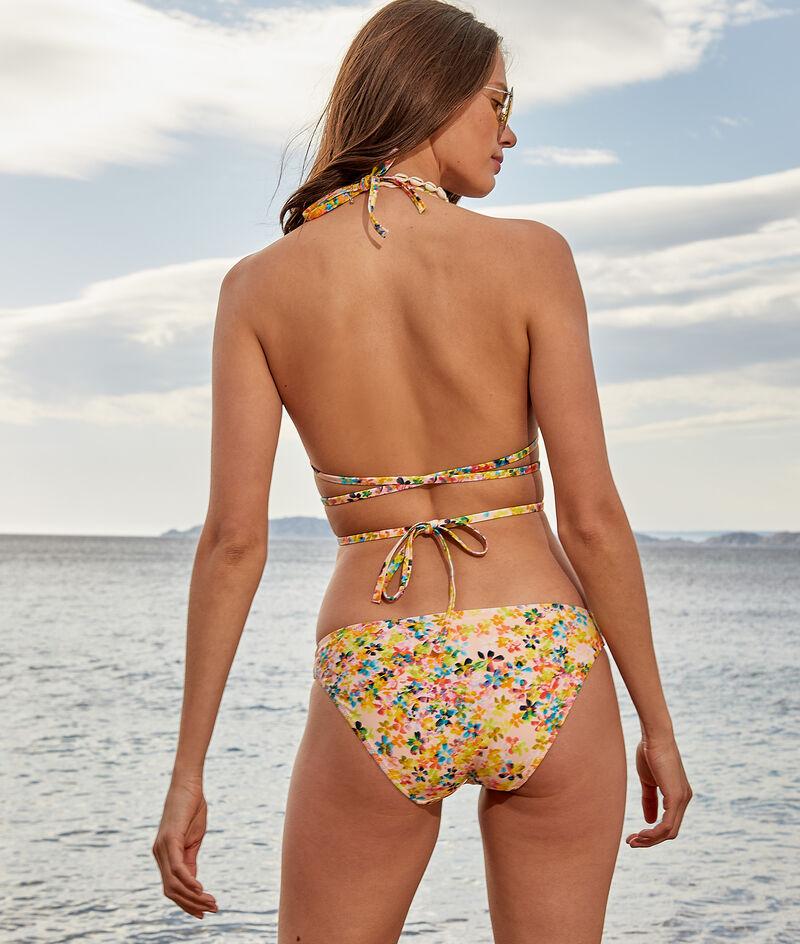 Bikini-Dreiecksform ohne Bügel mit mehreren Bändchen;${refinementColor}