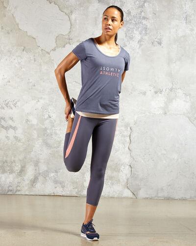 Sport-t-shirt, integriertes top anthrazit.