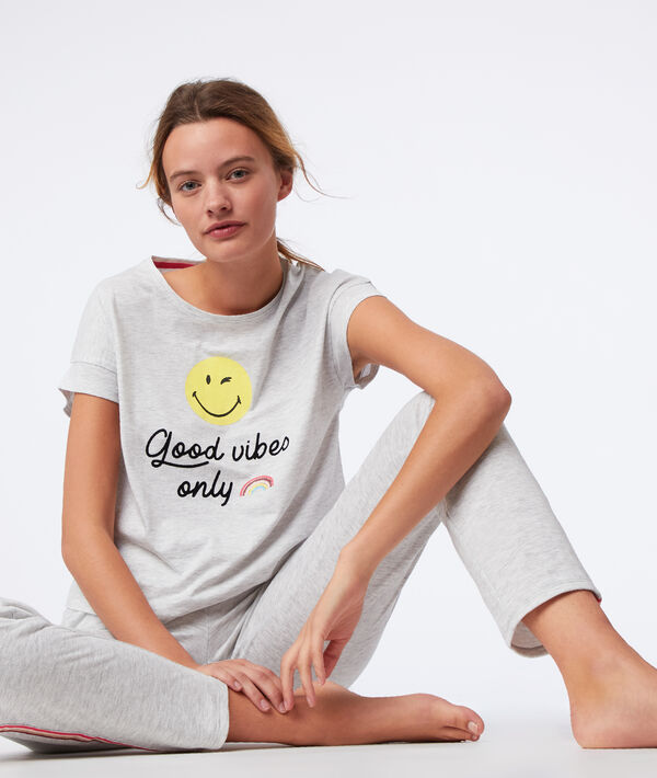 """T-Shirt """"good vibes only"""";${refinementColor}"""