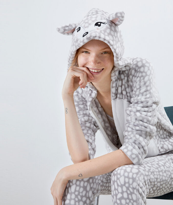 Reh pyjama onesie gris.