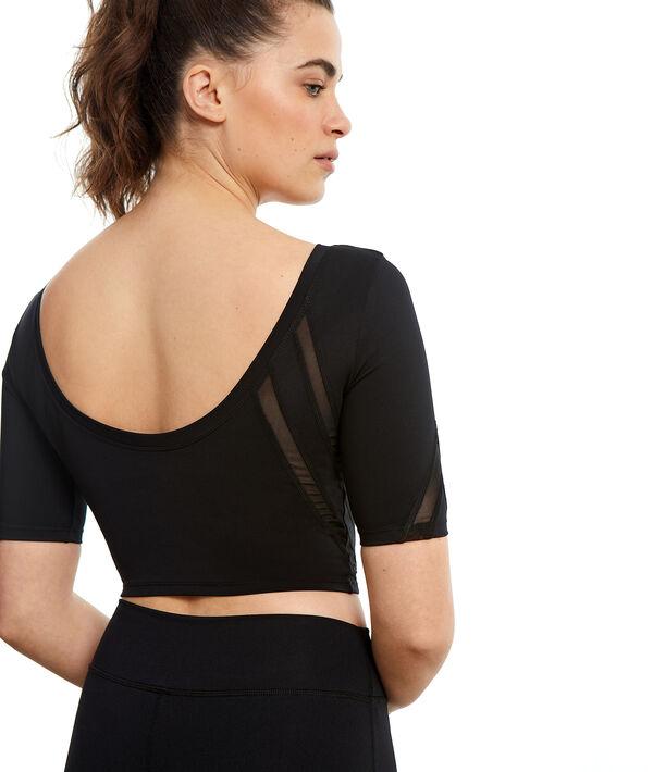 Yoga-Crop-Top, tief ausgeschnittener Rücken;${refinementColor}