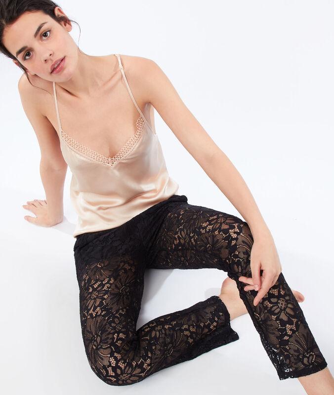 Hose aus guipure-spitze schwarz.