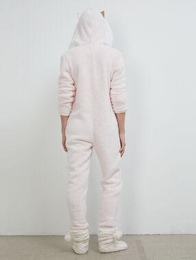 Katze pyjama onesie pink.