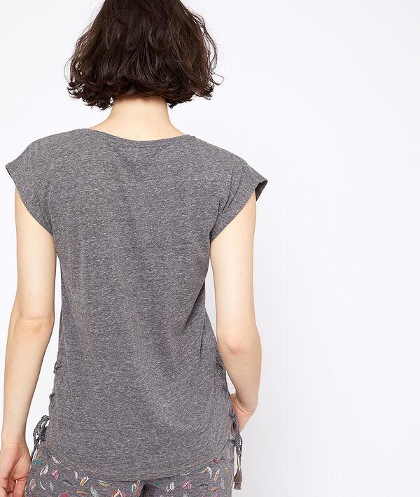 T-Shirt mit Mond-Print;${refinementColor}