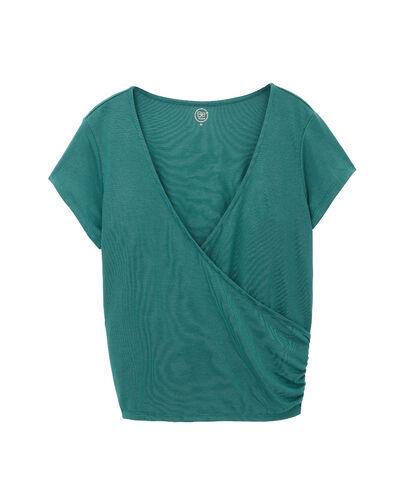 "T-shirt 70 % modal, ""breathe"" grün."
