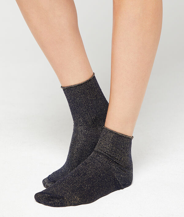 Socken mit Metallic-Faden;${refinementColor}