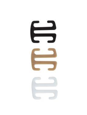 Schwimmerrücken-clip blanc / noir / peau.