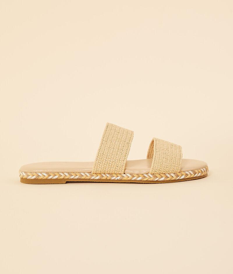 Sandalen in Stroh-Optik;${refinementColor}