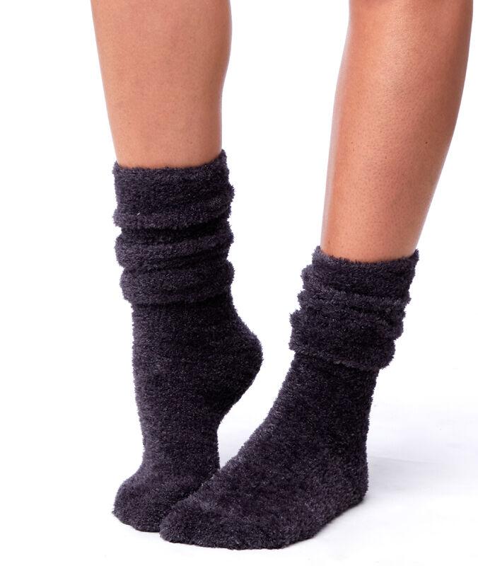 Chaussettes fibres métallisées anthracite.