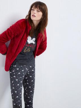 """Pyjama 3 pièces chien """"jingle belle"""" rouge."""