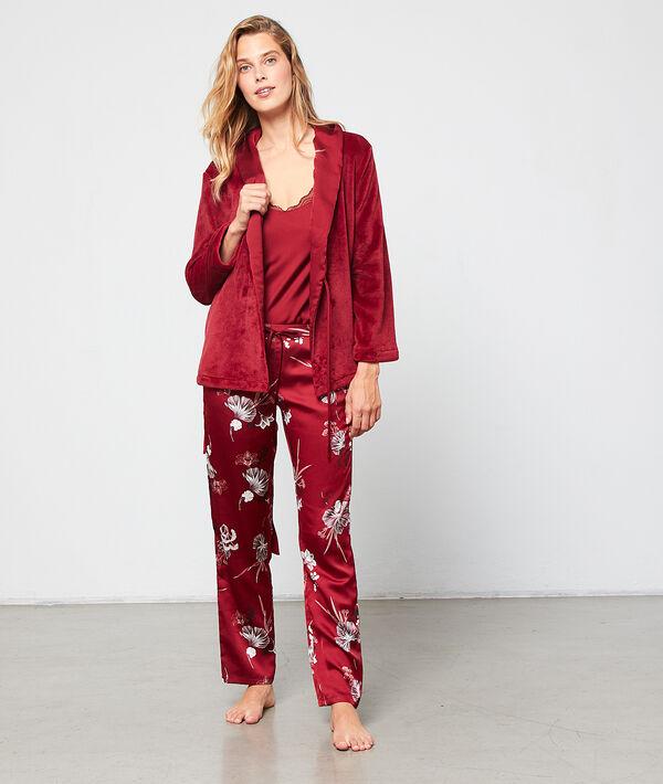 Seidig schimmernder 3-teiliger Pyjama