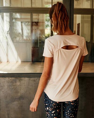 T-shirt mit offenem rücken dune.