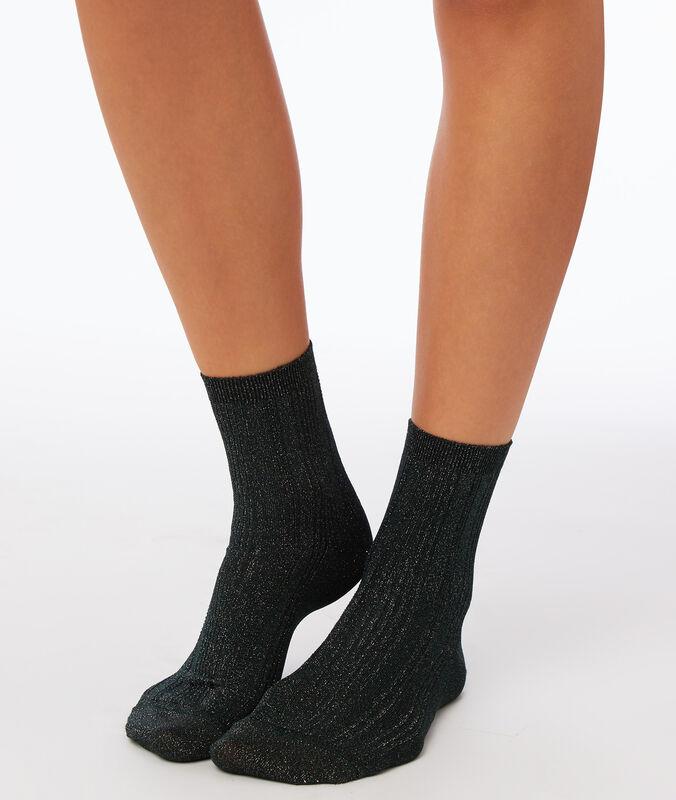 Socken mit metallic-fasern tanne.