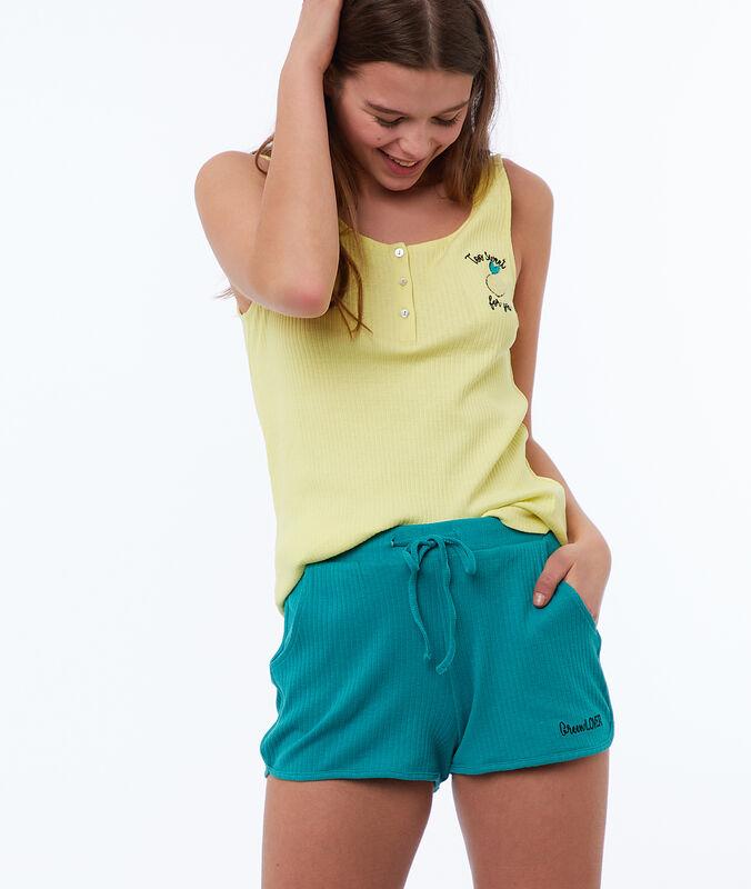 Shorts mit statement grün.