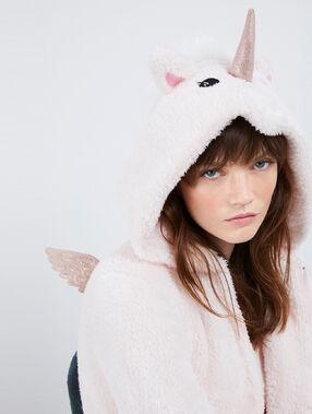 Einhorn pyjama onesie blassrosa.
