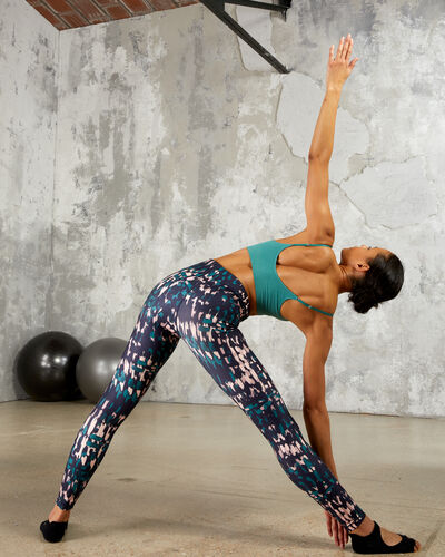 Yoga-leggings, mittelhohe taille multicolor.