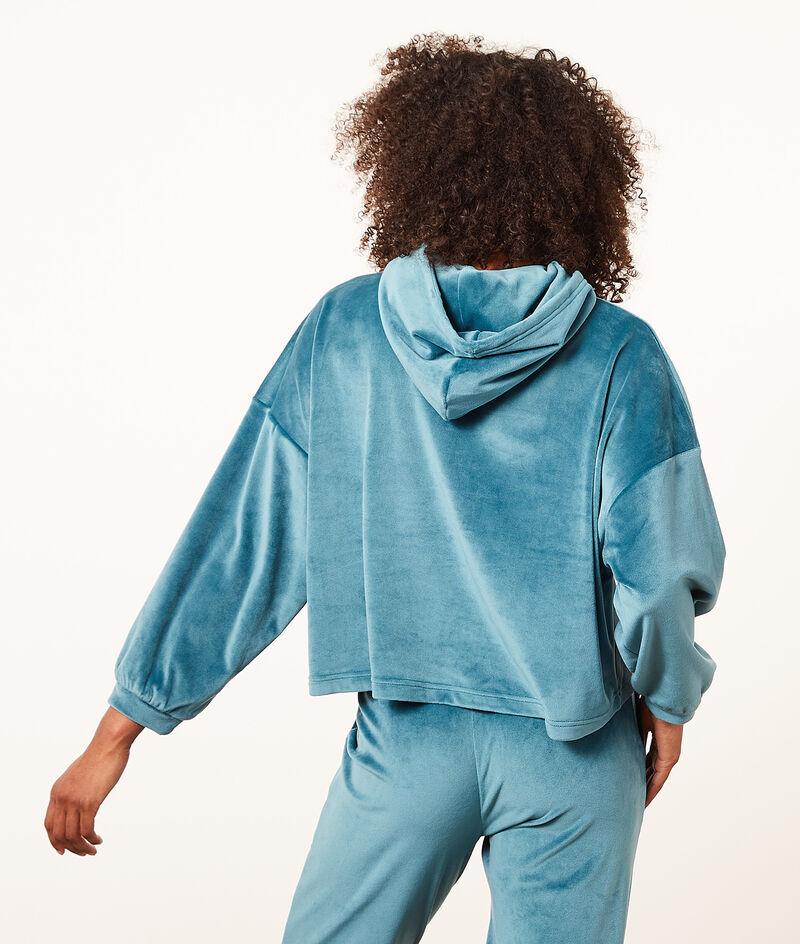 Sweatshirt mit Kapuze aus Frotteesamt;${refinementColor}
