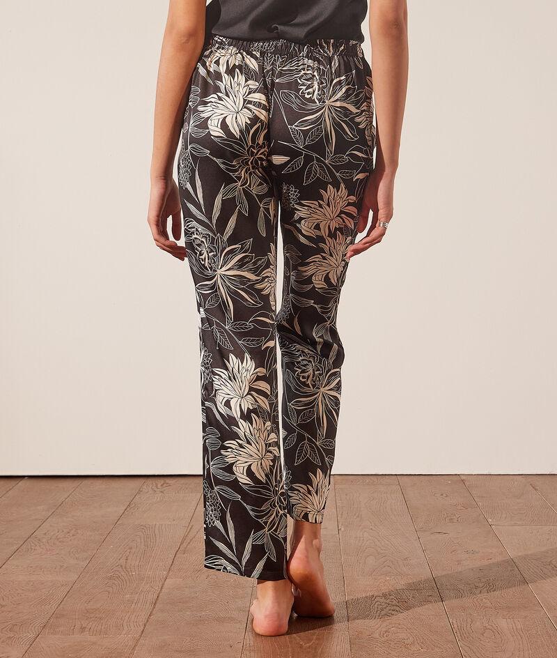 Pyjamahose mit floralem Print;${refinementColor}